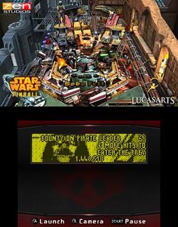 Star Wars Pinball 3DS Boba Fett