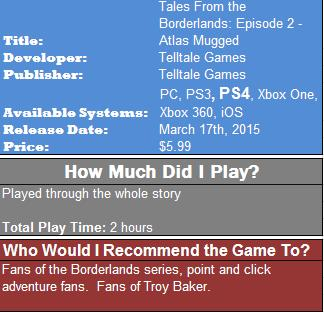 Tales from the Borderlands 2 Review Box