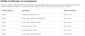 Cert of Compliance