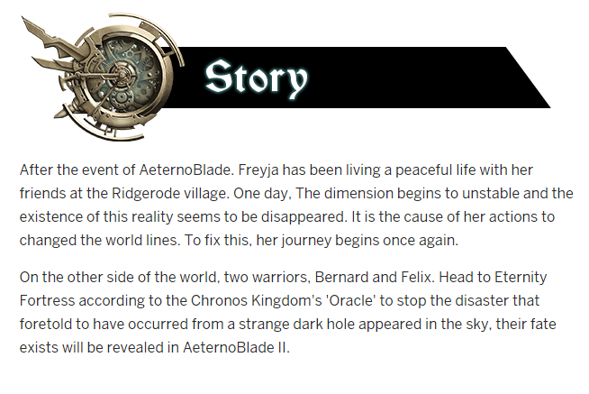 Aeternoblade II Story