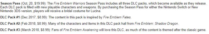 Fire Emblem DLC Details